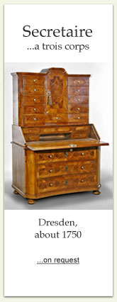 Secretaire, Dresden about 1750